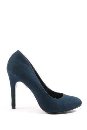 Graceland High Heels blau Business-Look