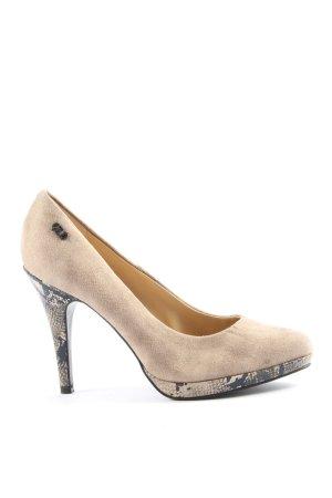 Graceland High Heels wollweiß-hellgrau Animalmuster Casual-Look