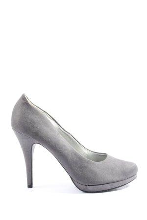 Graceland High Heels hellgrau Business-Look