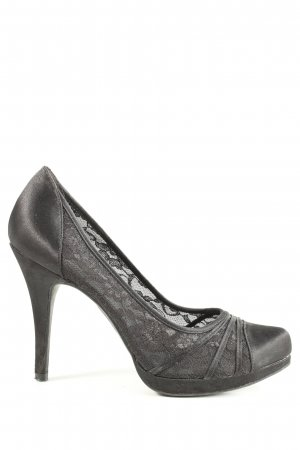 Graceland High Heels schwarz Webmuster Casual-Look