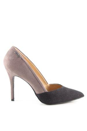 Graceland High Heels schwarz-wollweiß Business-Look