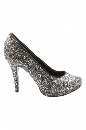 Graceland High Heels schwarz-silberfarben Elegant