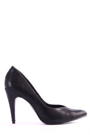 Graceland High Heels schwarz Animalmuster Casual-Look