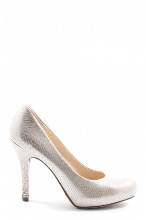 Graceland High Heels silberfarben-wollweiß Allover-Druck Elegant