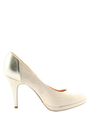 Graceland High Heels wollweiß Casual-Look