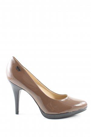 Graceland High Heels braun-schwarz Casual-Look