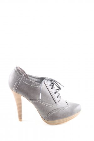 Graceland Hochfront-Pumps schwarz-braun Casual-Look