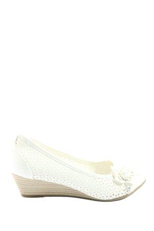 Graceland Sandalias tipo cuña blanco look casual