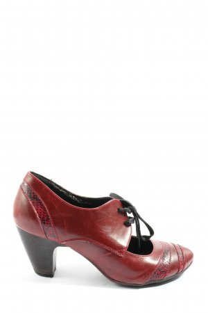 Graceland Hochfront-Pumps rot Animalmuster Casual-Look