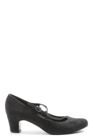 Graceland Pumps met hoge zool zwart elegant