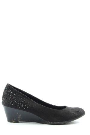 Graceland Zapatos de cuña negro look casual