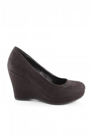 Graceland Keil-Pumps braun Casual-Look