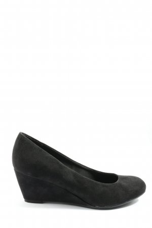 Graceland Keil-Pumps schwarz Casual-Look