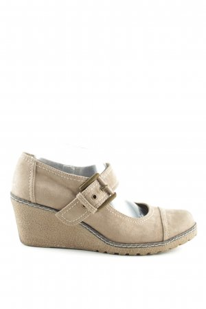 Graceland Keil-Pumps creme Casual-Look