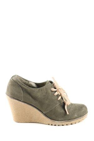 Graceland Keil-Stiefeletten khaki-wollweiß Casual-Look