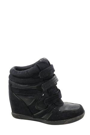 Graceland Keil-Stiefeletten schwarz Casual-Look