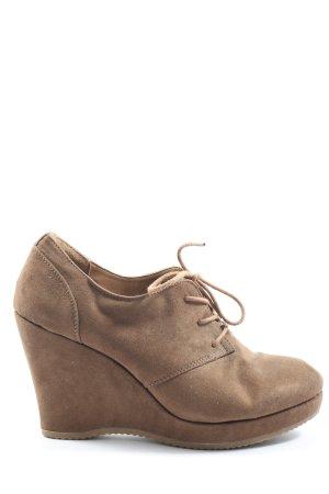 Graceland Keil-Stiefeletten braun Casual-Look