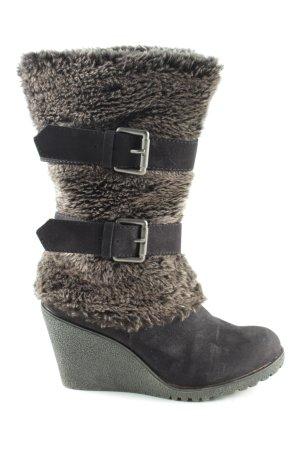 Graceland Keil Stiefeletten schwarz braun Casual Look