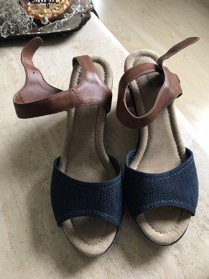 Graceland Keilabsatz Schuhe blau