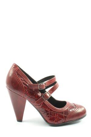 Graceland Escarpins Mary Jane rouge gradient de couleur style décontracté