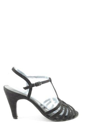 Graceland Komfort-Sandalen schwarz Casual-Look