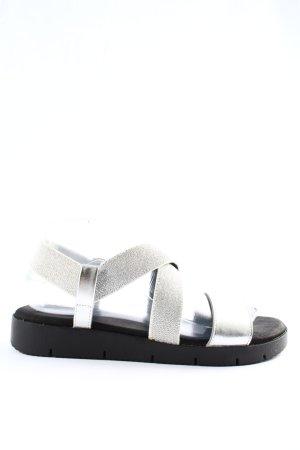 Graceland Comfortabele sandalen zilver casual uitstraling