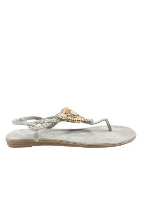 Graceland Comfortabele sandalen lichtgrijs casual uitstraling