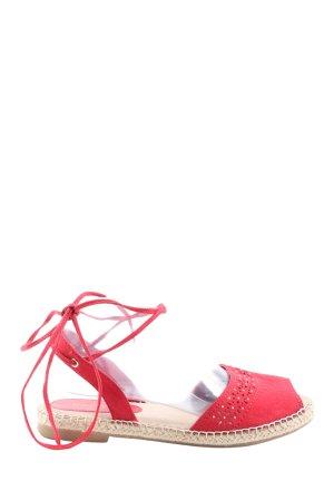 Graceland Komfort-Sandalen rot Casual-Look