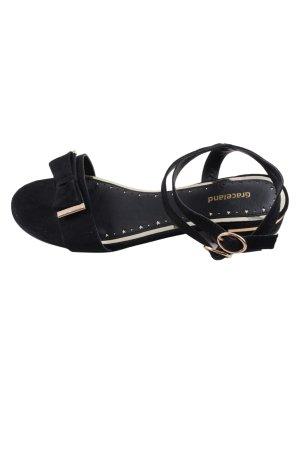 Graceland Sandalo comodo nero stile casual