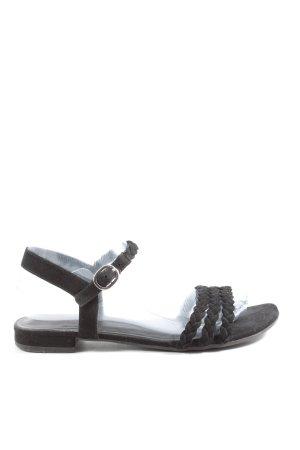 Graceland Komfort-Sandalen schwarz Zopfmuster Casual-Look
