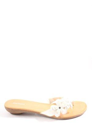 Graceland Sandalias con talón descubierto blanco look casual