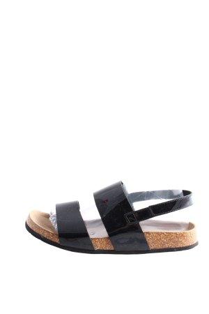 Graceland Comfortabele sandalen zwart casual uitstraling