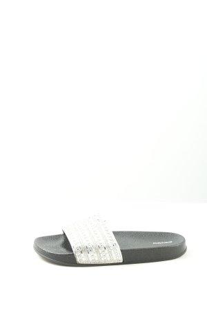 Graceland Klompen zwart-zilver casual uitstraling
