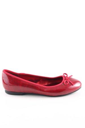 Graceland Ballerina di pelle verniciata rosso stile casual