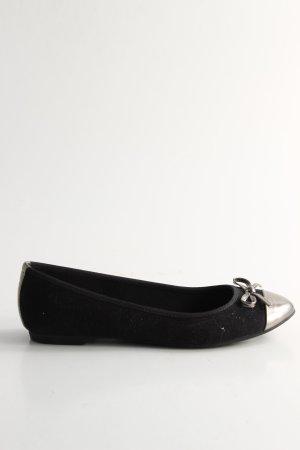 Graceland faltbare Ballerinas schwarz Casual-Look