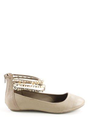 Graceland Baleriny Mary Jane kremowy W stylu casual