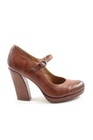 Graceland Escarpins Mary Jane brun style décontracté