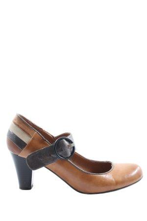 Graceland Tacones Mary Jane marrón elegante