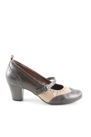 Graceland Escarpins Mary Jane noir-crème style d'affaires