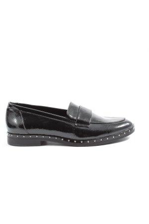Graceland Mocassins zwart zakelijke stijl
