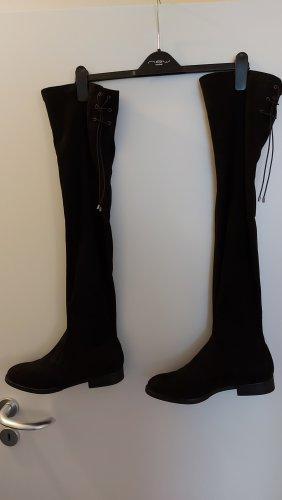 Graceland Buty nad kolano czarny