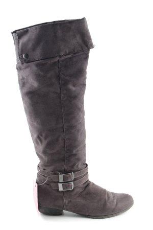 Graceland Botas sobre la rodilla marrón look casual