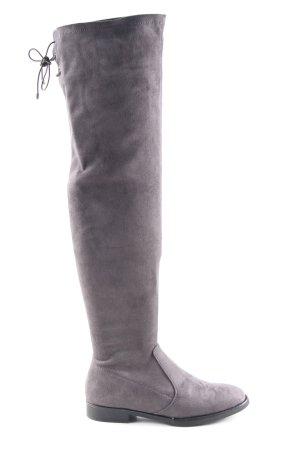 Graceland Kniehoge laarzen lichtgrijs elegant