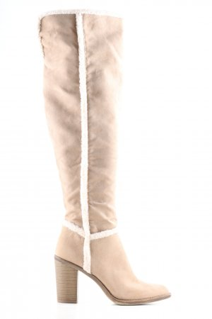 Graceland Overknees creme-wollweiß Casual-Look