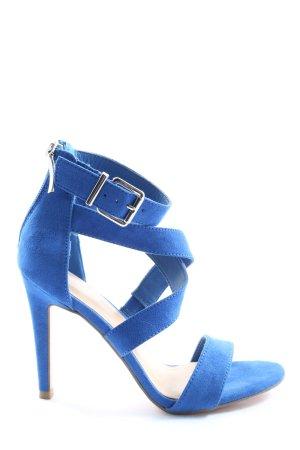 Graceland Peeptoe Pumps blau Casual-Look