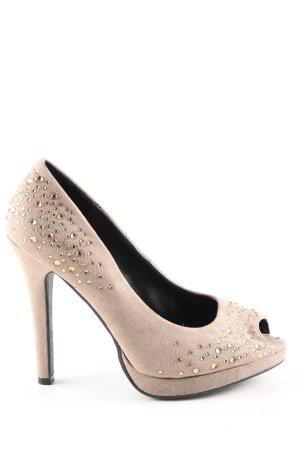Graceland Peep Toe Pumps cream casual look