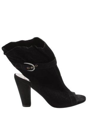 Graceland Peep Toe Booties black casual look