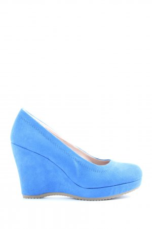 Graceland Plateau-Pumps blau Casual-Look