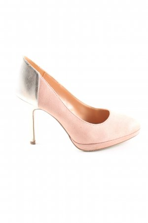 Graceland Plateau-Pumps silberfarben-pink Elegant