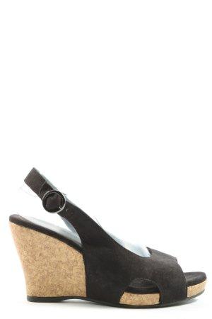 Graceland Sandały na platformie czarny W stylu casual